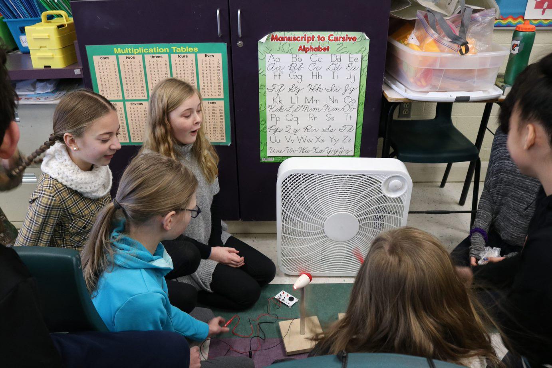 Clean Energy School - wind turbine