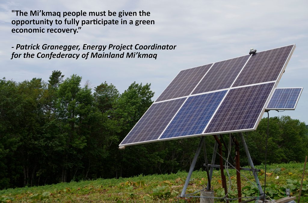 Clean energy in the First Nations of Mi'kma'ki